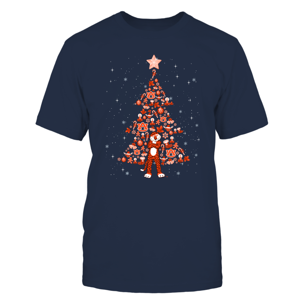 Auburn Tigers - Xmas - Mascot Tree - IF32-IC32-DS64 Front picture