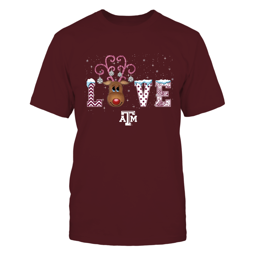 Texas A&M Aggies - Xmas - Love Reindeer - IF32-IC32-DS85 Front picture