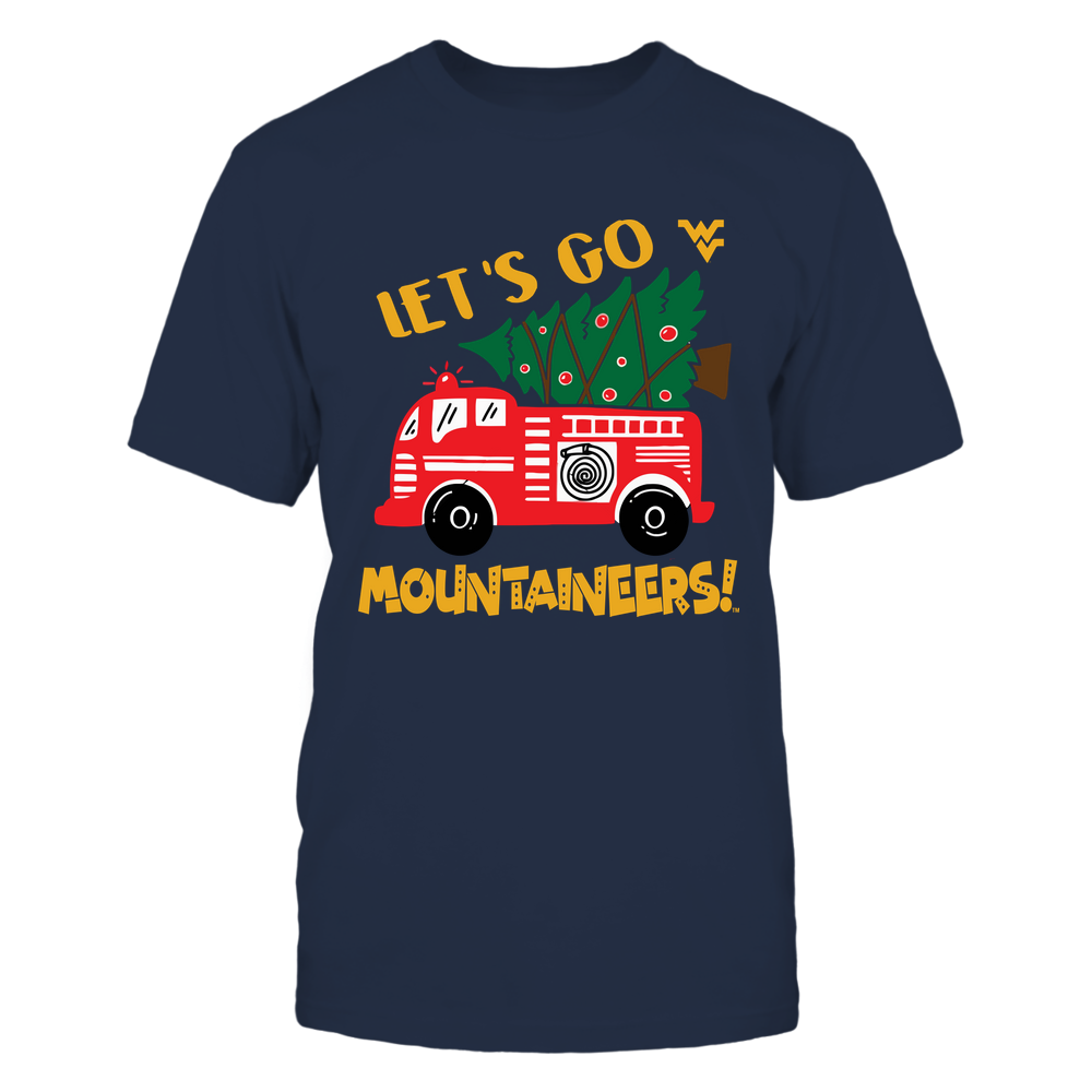 West Virginia Mountaineers - Xmas - Firefighter - Fire Truck - IF32-IC32-DS64 Front picture