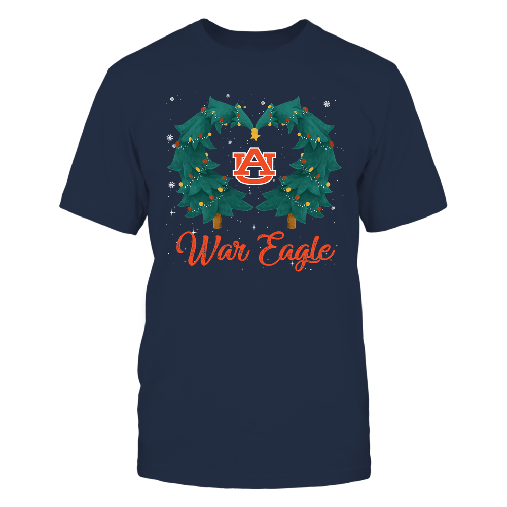 Auburn Tigers - Xmas - Heart Christmas Tree - IF32-IC32-DS37 Front picture
