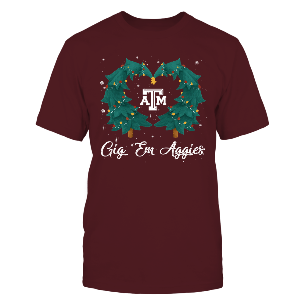 Texas A&M Aggies - Xmas - Heart Christmas Tree - IF32-IC32-DS37 Front picture