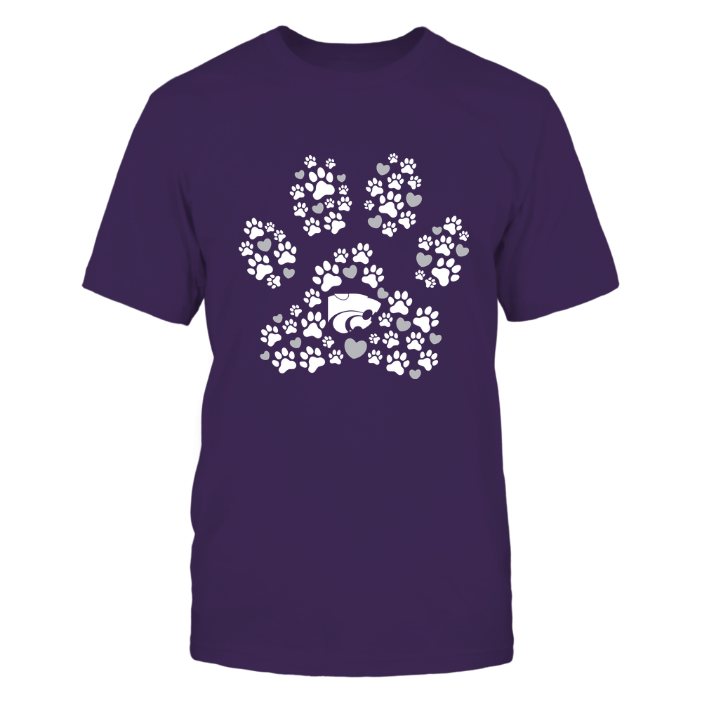 Kansas State Wildcats - Paw Print Heart - IF32-IC32-DS37 Front picture
