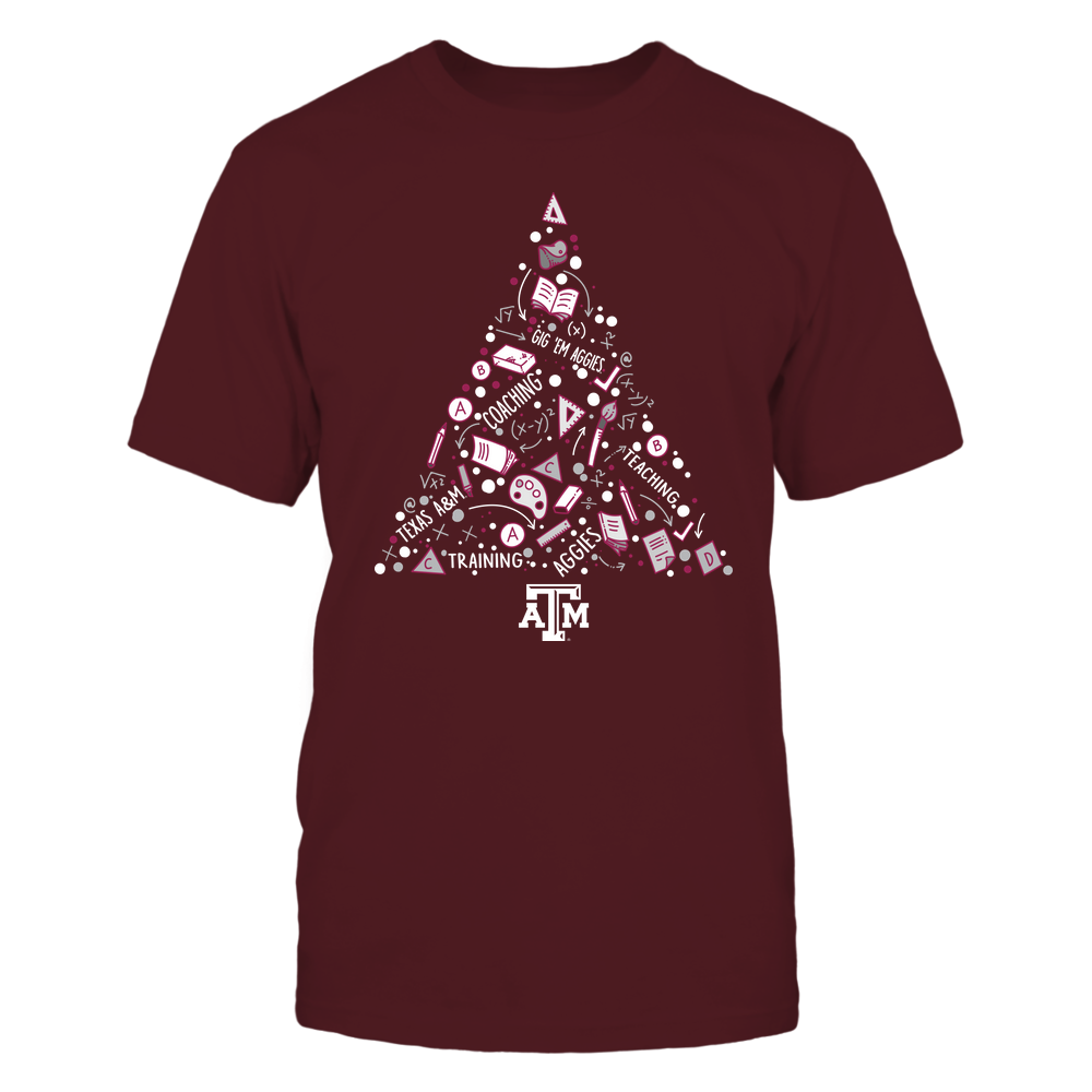 Texas A&M Aggies - Xmas - Teacher - Word Tree - IF32-IC32-DS37 Front picture