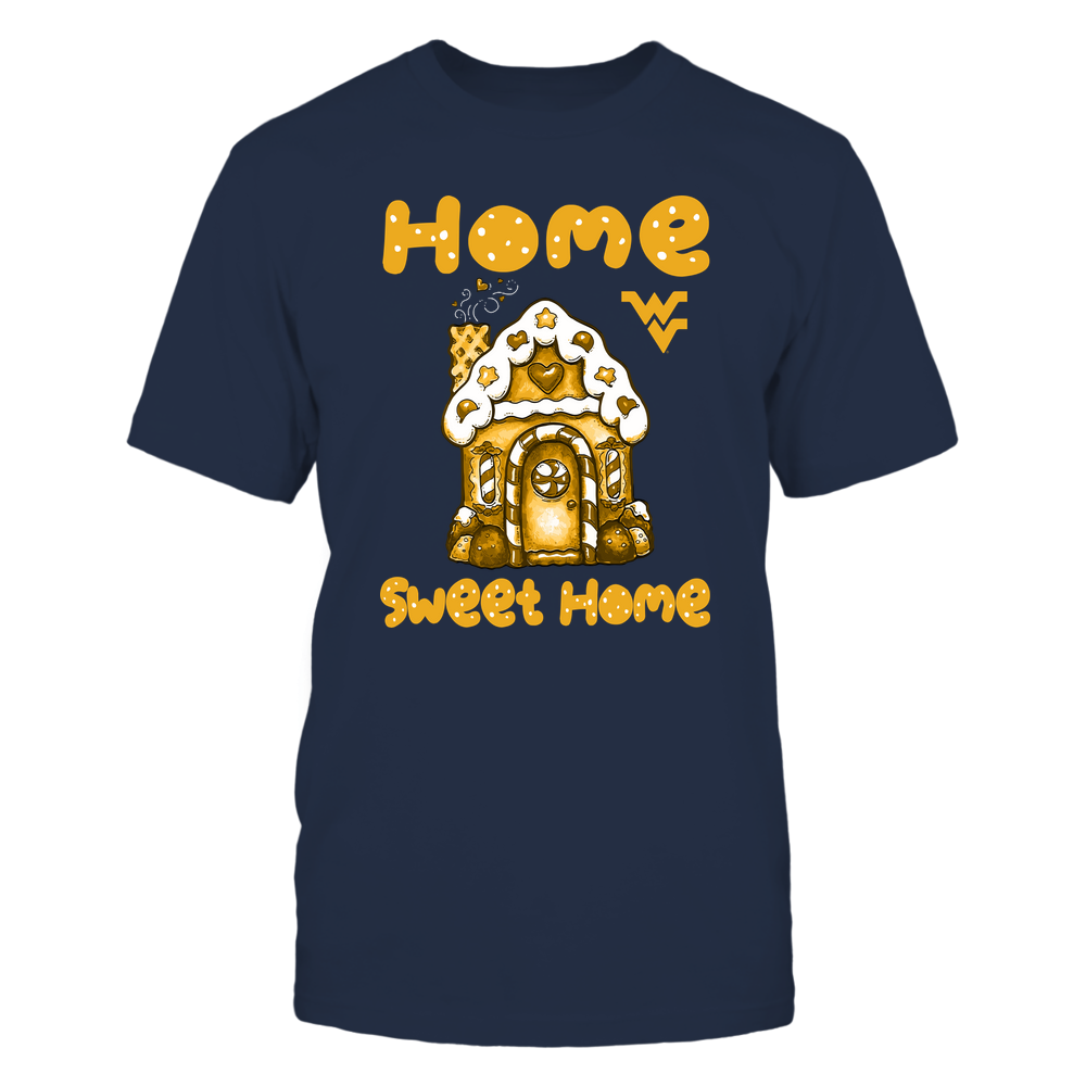 West Virginia Mountaineers - Home Sweet Home - Gingerbread House - IF32-IC32-DS64 Front picture