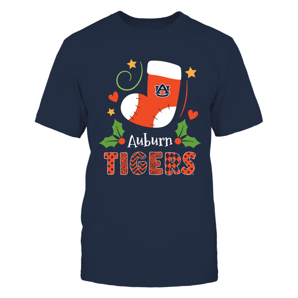 Auburn Tigers - Xmas - Santa Sock - IF32-IC32-DS45 Front picture