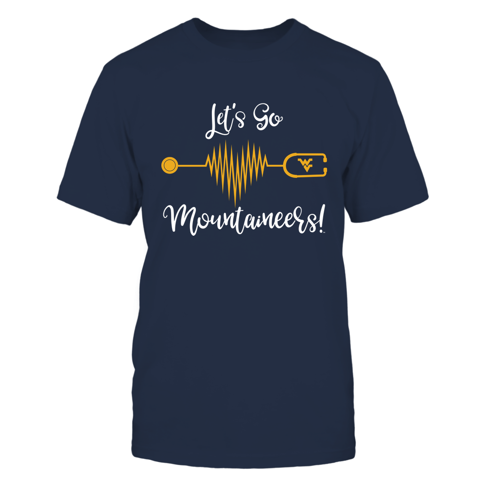 West Virginia Mountaineers - Nurse - Heart By Heartbeat - Slogan - IF32-IC32-DS45 Front picture
