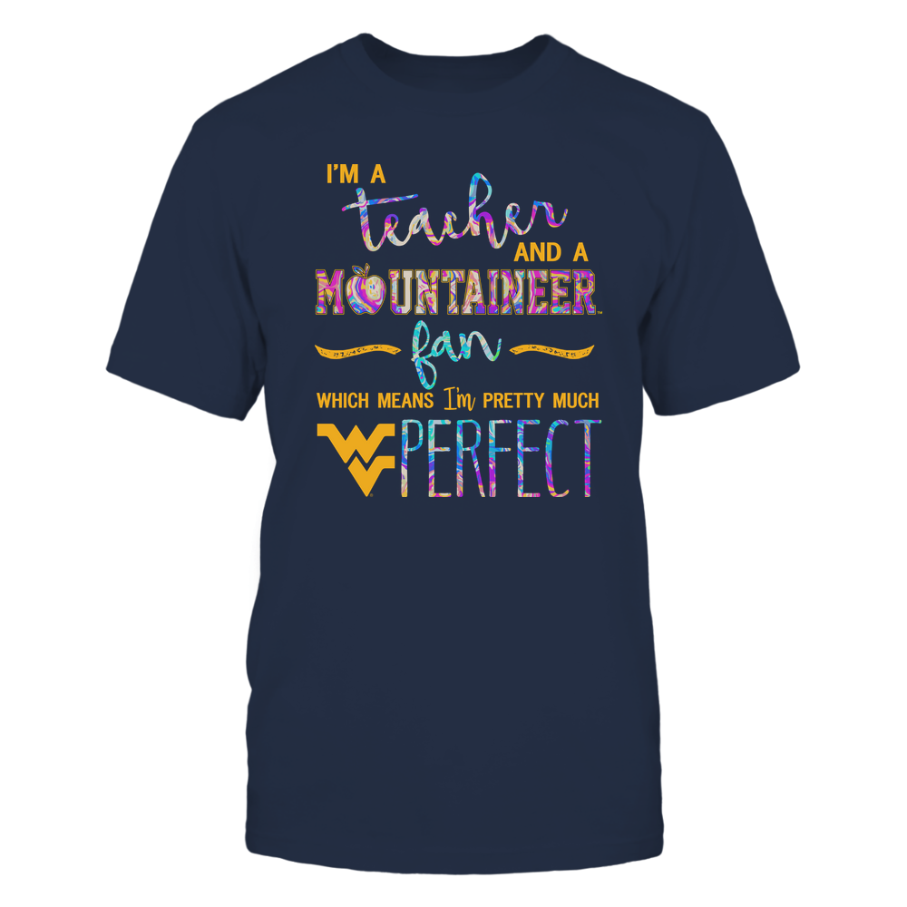 West Virginia Mountaineers - Perfect Teacher - Rainbow Swirl  - IF82-IC82-DS38 Front picture
