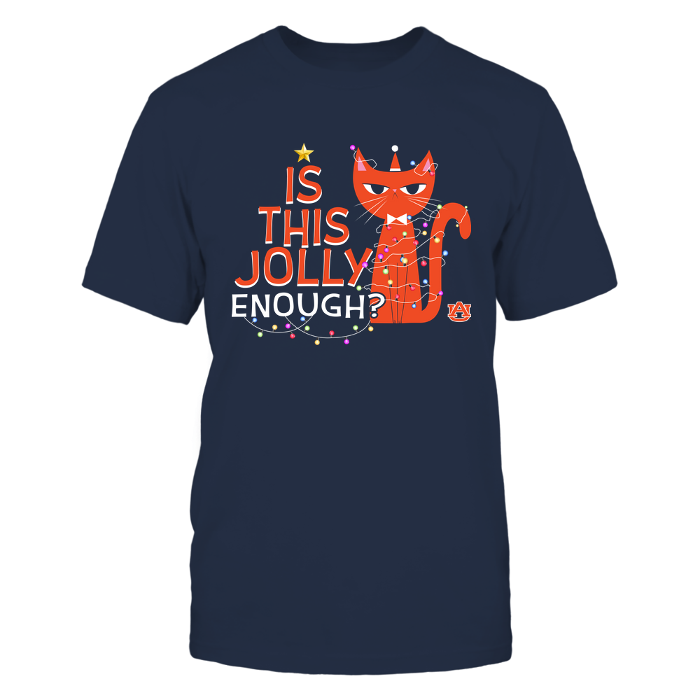 Auburn Tigers - Xmas - Is This Jolly Enough - Cat - IF32-IC32-DS45 Front picture
