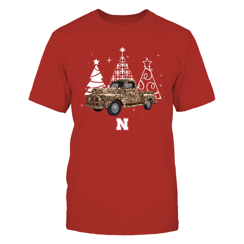 Nebraska Cornhuskers - Xmas - Leopard Christmas Truck - IF78-IC78-DS63 Front picture