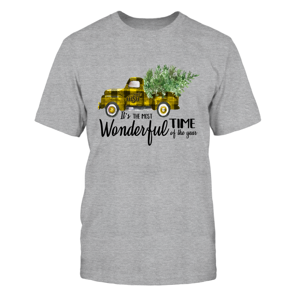 Wichita State Shockers - Xmas - Most Wonderful Time - Checkered Truck - IF13-IC13-DS45 Front picture
