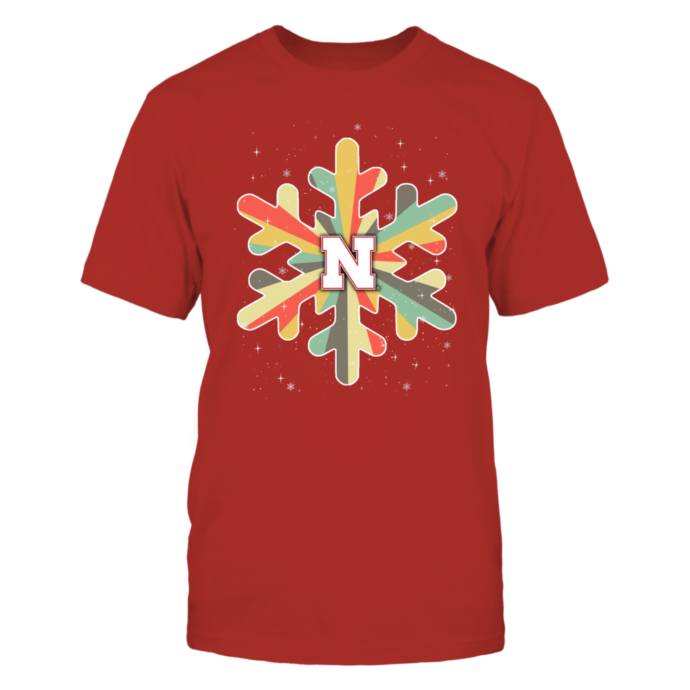 Nebraska Cornhuskers - Xmas - Snowflake Vintage Graphic - IF32-IC32-DS37 Front picture