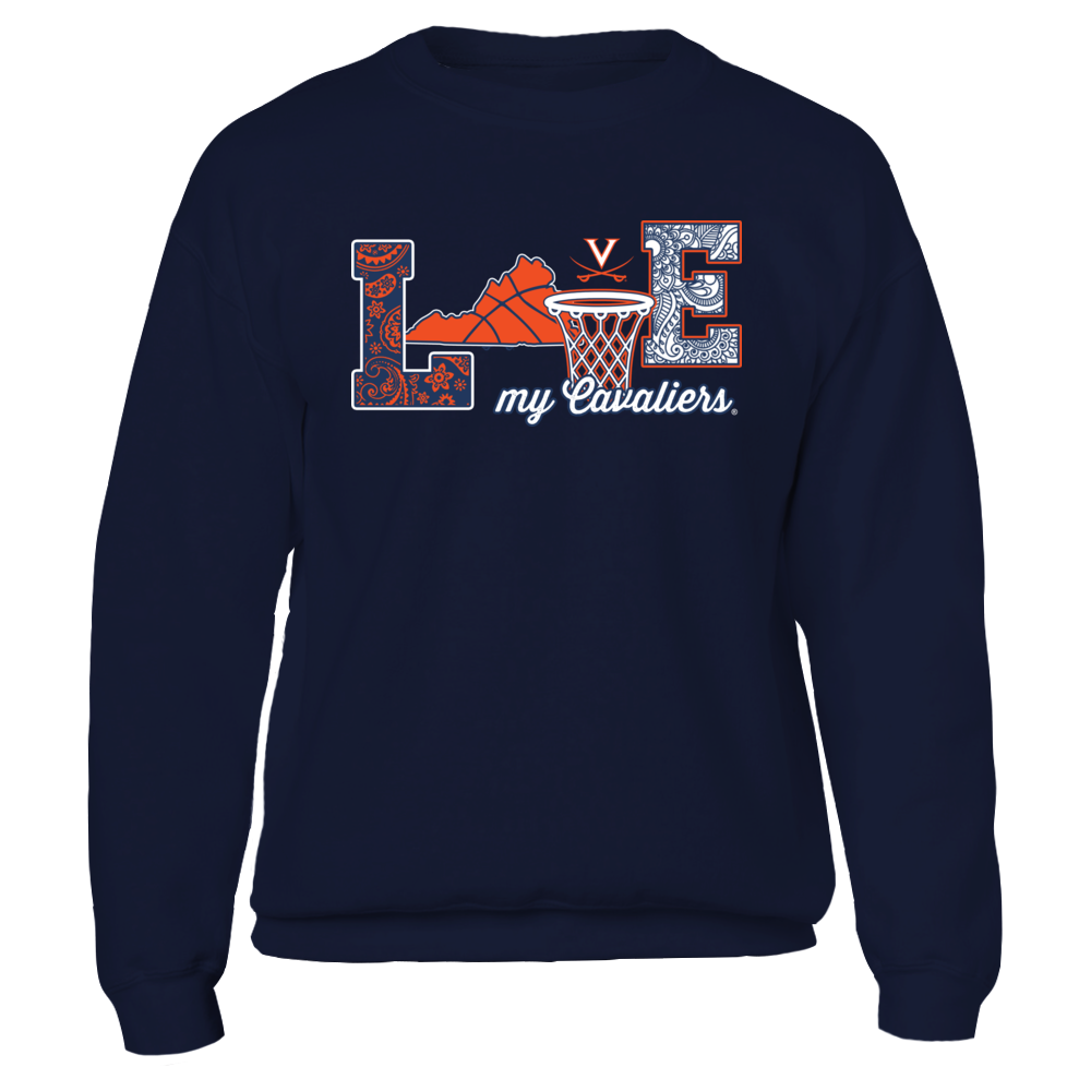 Virginia Cavaliers - Love My Team - Basketball - IF-IC32-DS38 Front picture