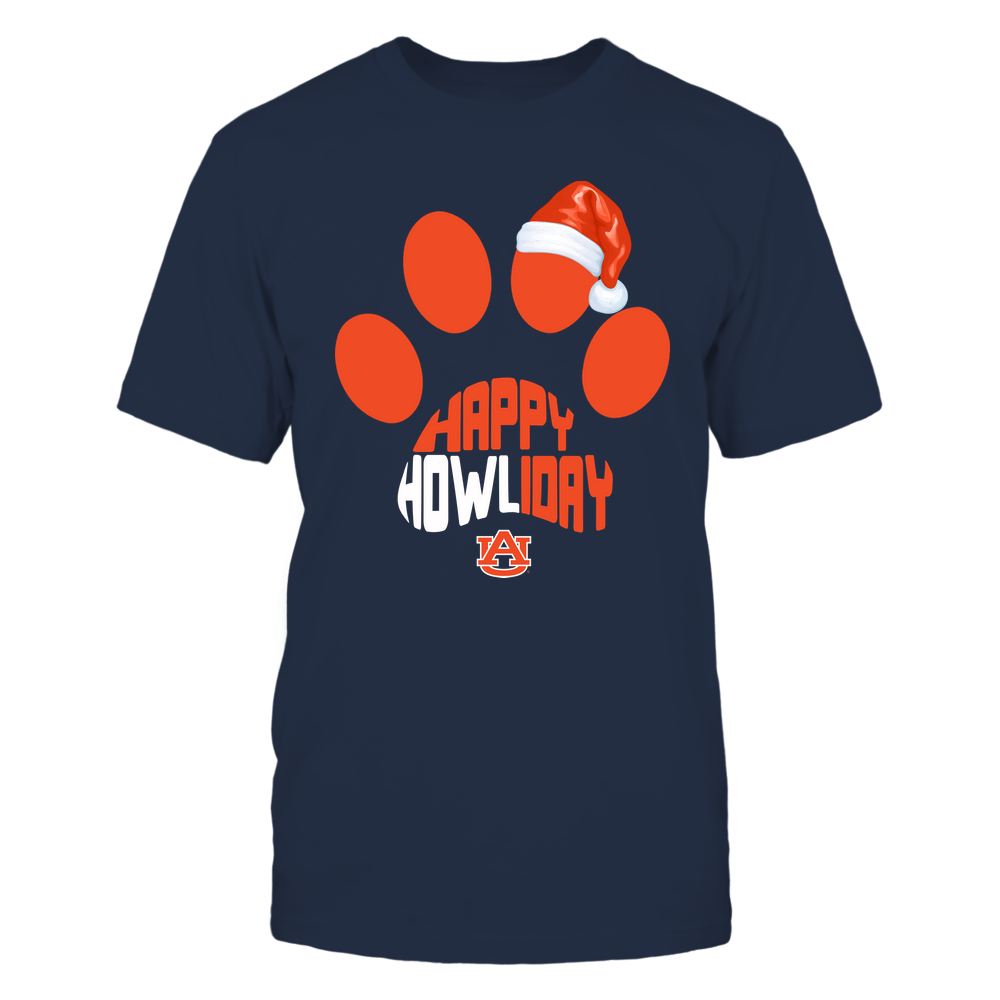 Auburn Tigers - Xmas - Happy Howliday Paw - IF32-IC32-DS63 Front picture
