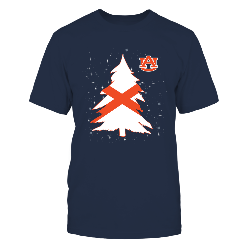 Auburn Tigers - Xmas - Christmas Tree - State Flag - IF32-IC32-DS85 Front picture