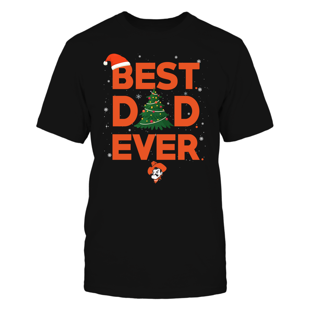 Oklahoma State Cowboys - Xmas - Best Dad Ever - IF32-IC32-DS37 Front picture