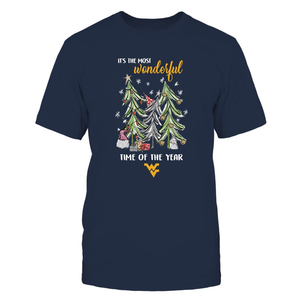 West Virginia Mountaineers - Xmas - Gnome And Tree - IF32-IC32-DS38 Front picture