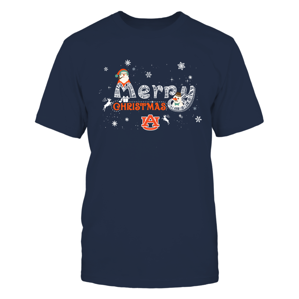 Auburn Tigers - Xmas - Merry Christmas Pattern Letters - IF32-IC32-DS85 Front picture