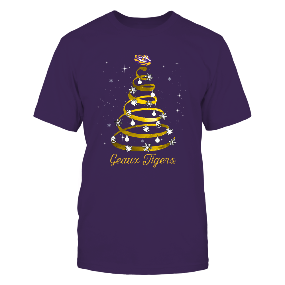 LSU Tigers - Xmas - Spring Galaxy Tree - IF32-IC32-DS37 Front picture