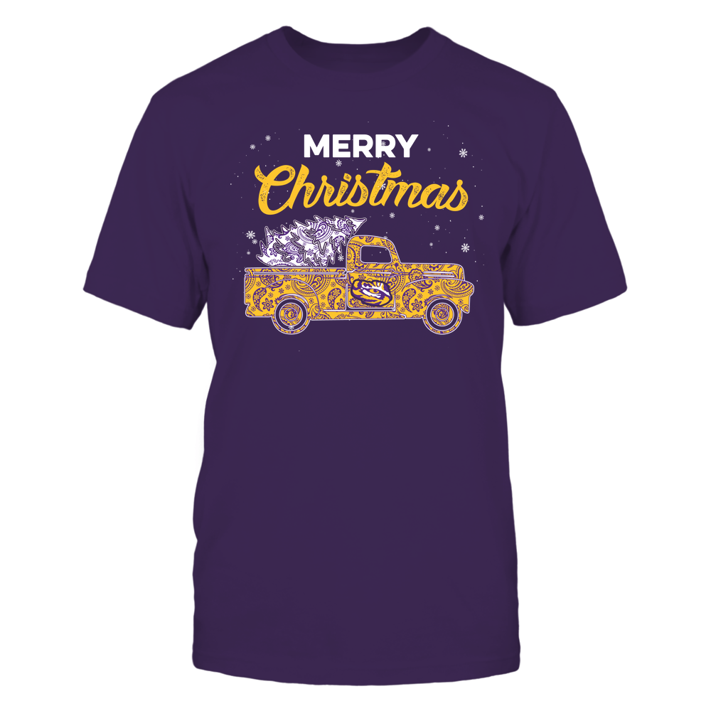LSU Tigers - Xmas - Truck Paisley - IF32-IC32-DS38 Front picture