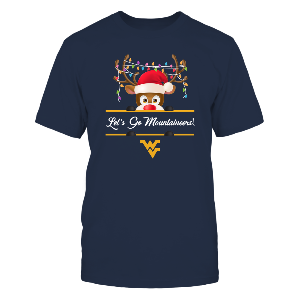 West Virginia Mountaineers - Xmas - Reindeer Peeking - Christmas Light - IF32-IC32-DS63 Front picture