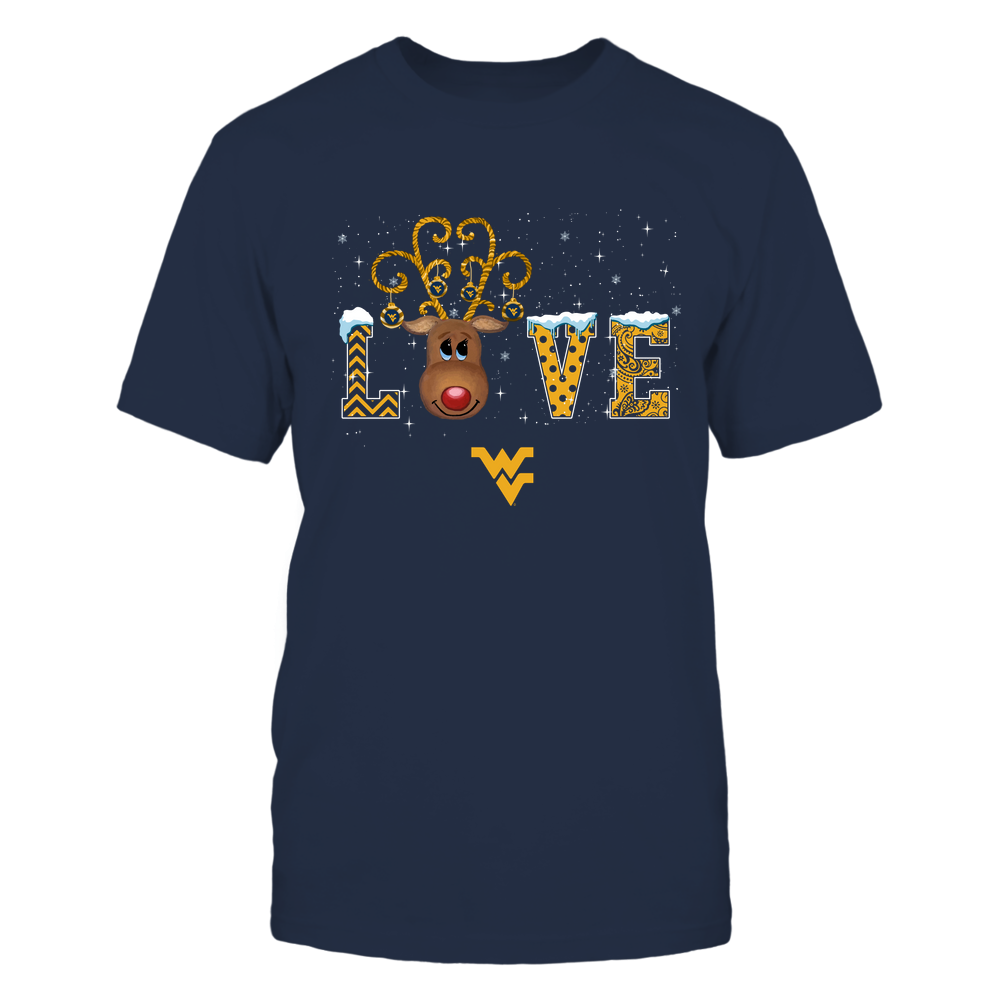 West Virginia Mountaineers - Xmas - Love Reindeer - IF32-IC32-DS45 Front picture