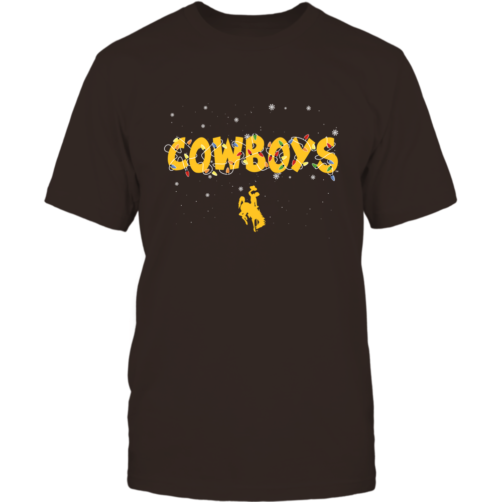 Wyoming Cowboys - Xmas - Team Name Light - IF32-IC32-DS45 Front picture