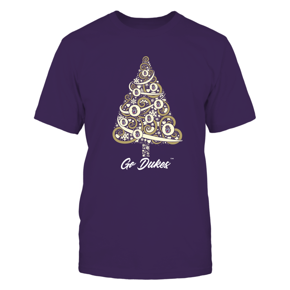 James Madison Dukes - Logo Christmas Tree Front picture