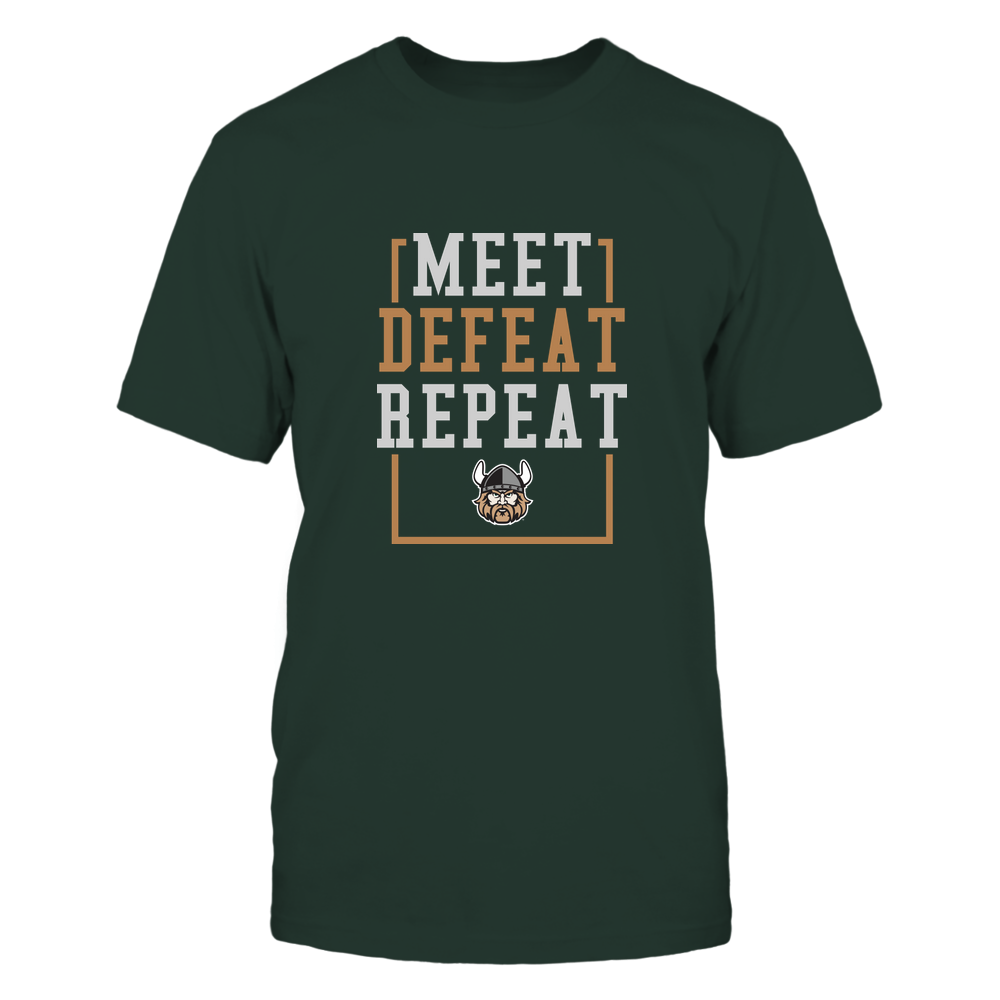 Cleveland State Vikings - MEET DEFEAT REPEAT Front picture