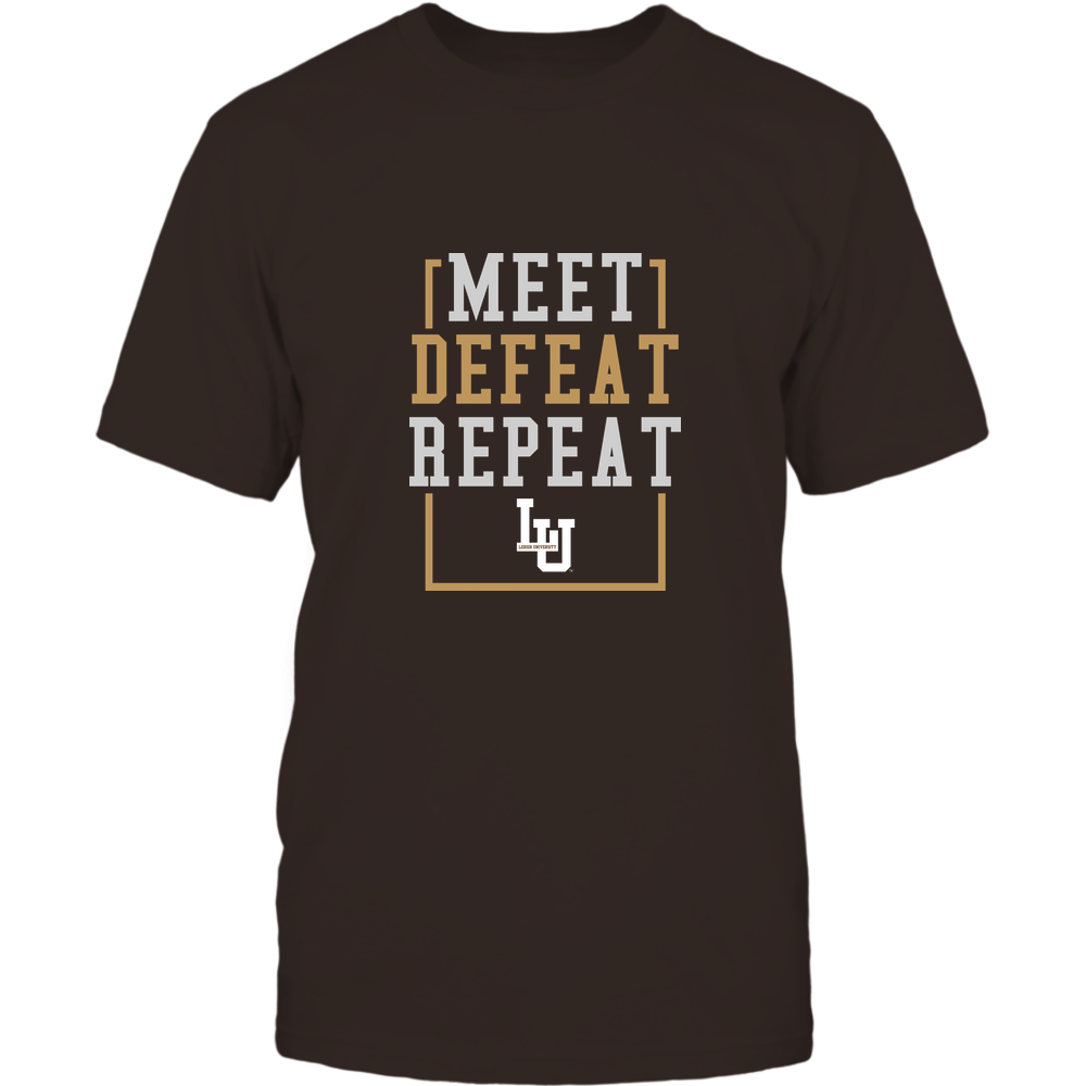 Lehigh Mountain Hawks - MEET DEFEAT REPEAT Front picture