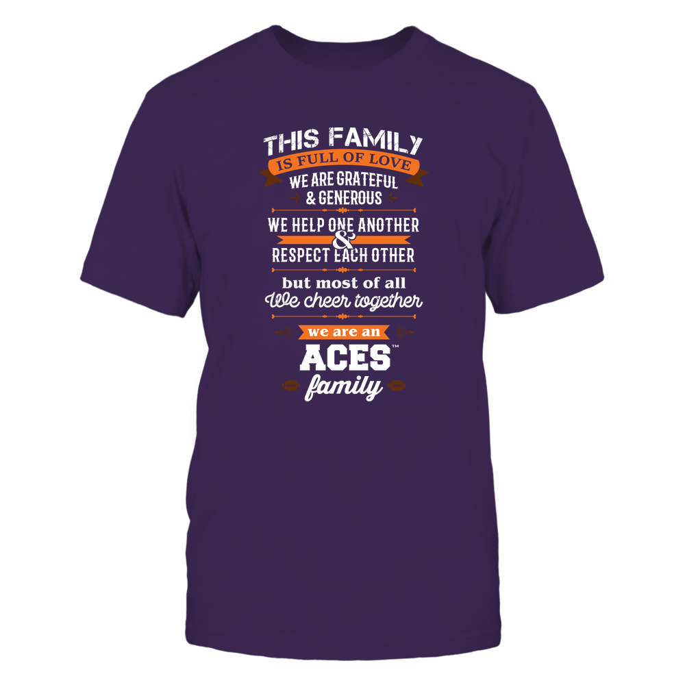 Evansville Purple Aces - Family Full of Love Front picture