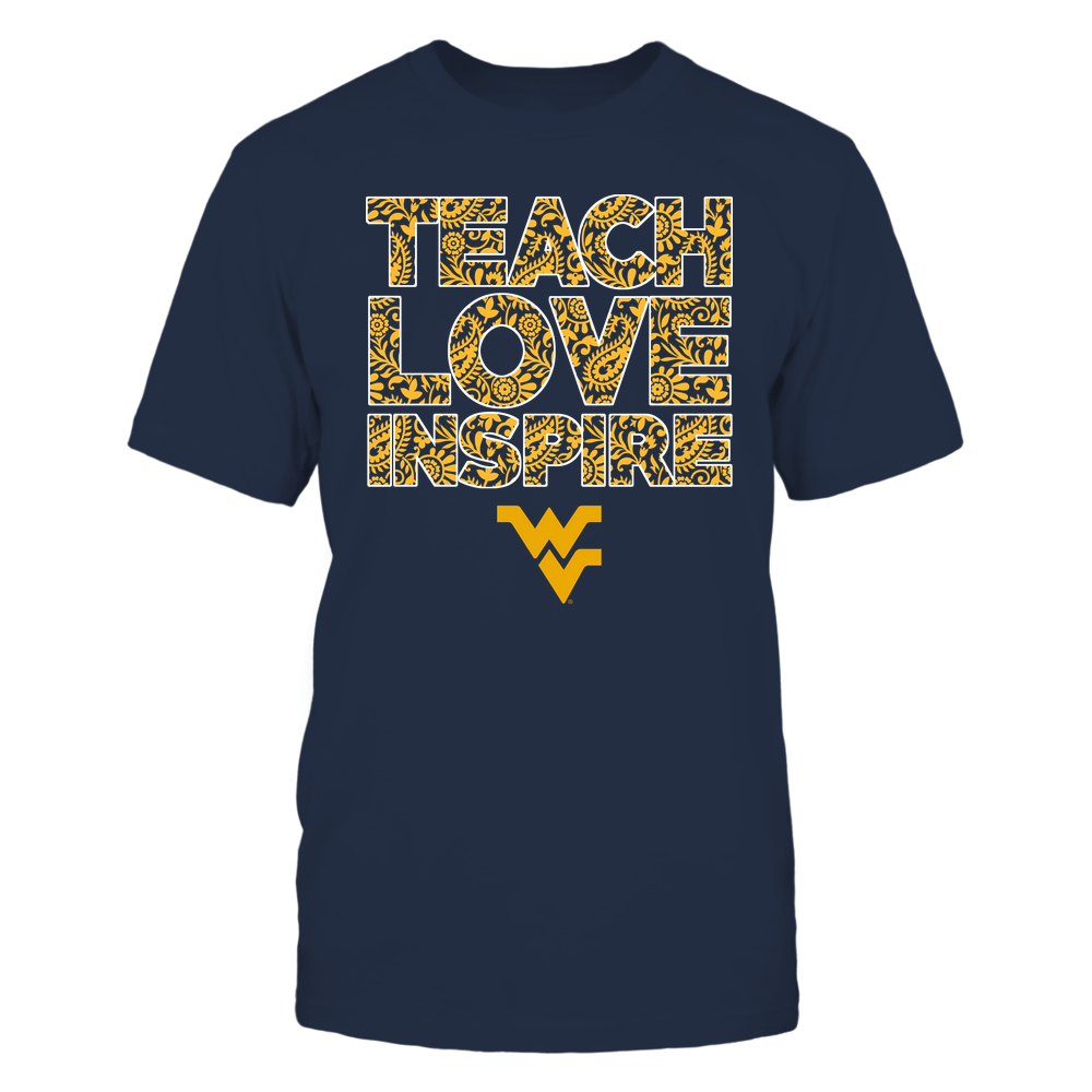 West Virginia Mountaineers - Teach Love Inspire Front picture