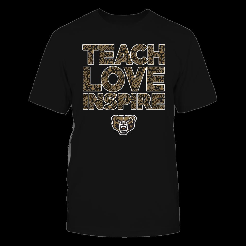 Oakland Golden Grizzlies - Teach Love Inspire Front picture