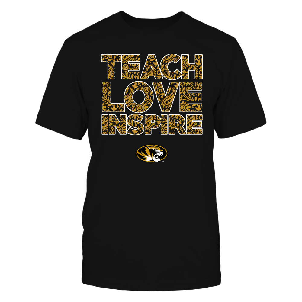 Mizzou Tigers - Teach Love Inspire Front picture
