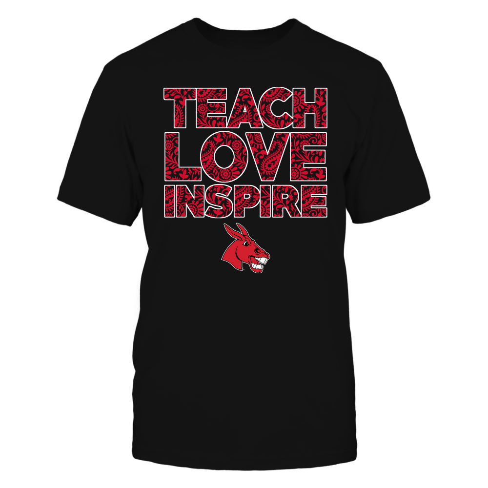 Central Missouri Mules - Teach Love Inspire Front picture