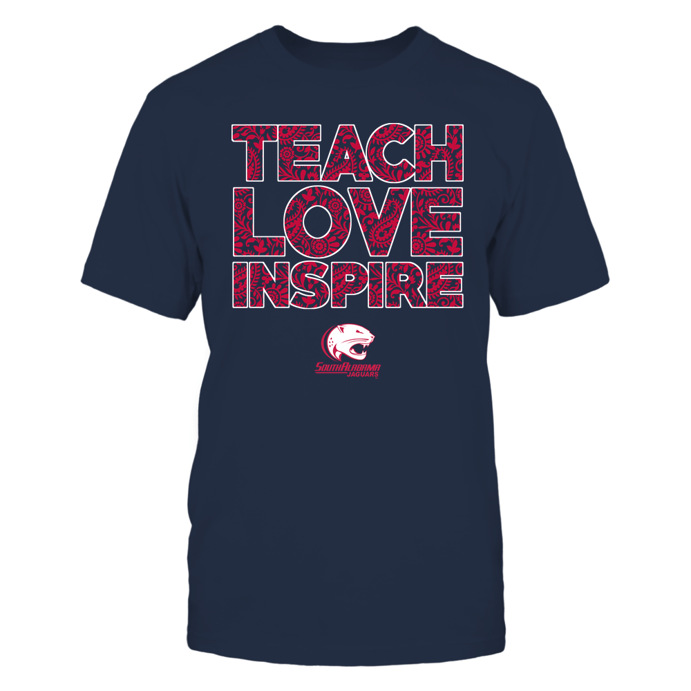 South Alabama Jaguars - Teach Love Inspire Front picture