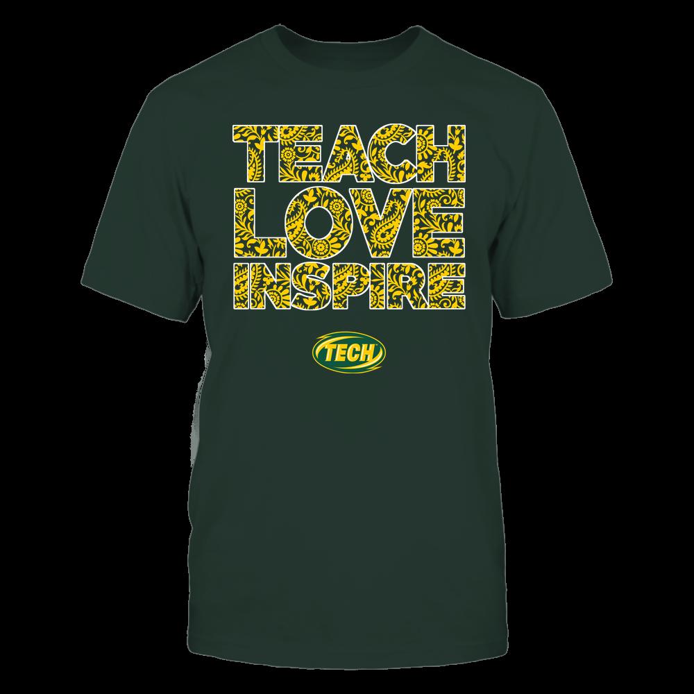 Arkansas Tech Golden Suns - Teach Love Inspire Front picture