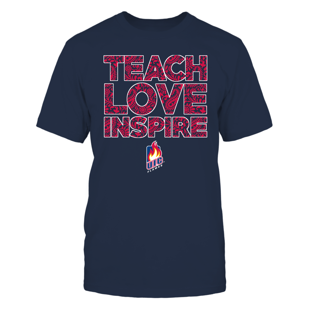 UIC Flames - Teach Love Inspire Front picture