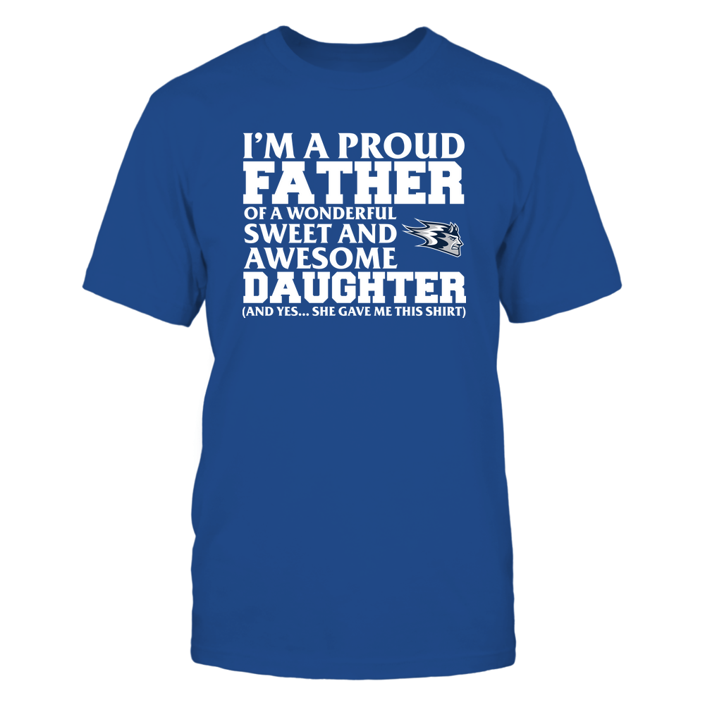 Wisconsin Stout Blue Devils - Father - Daughter Gave Me This Shirt Front picture