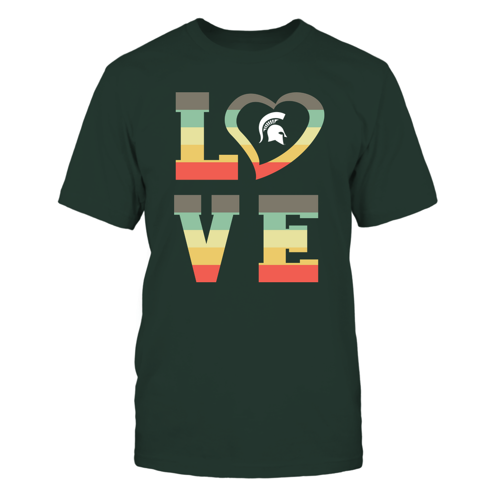 Michigan State Spartans - Stacked Love - Heart Shape Front picture