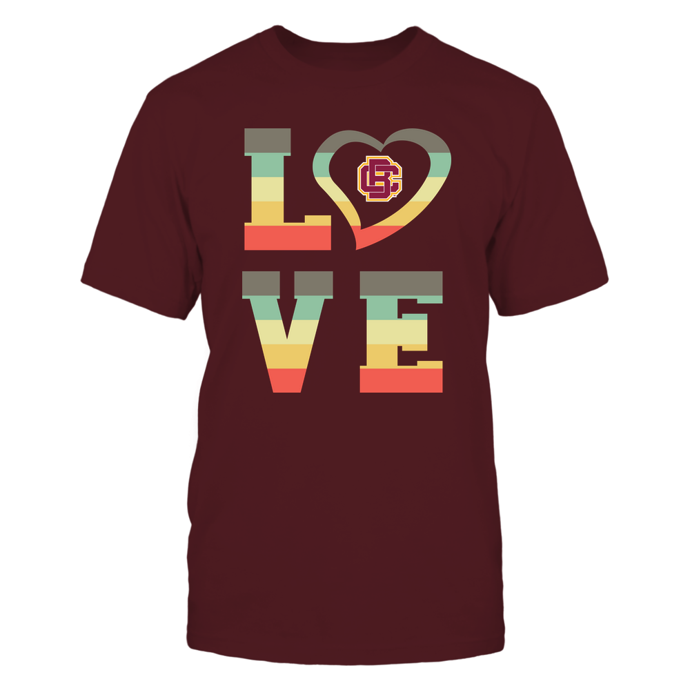 Bethune-Cookman Wildcats - Stacked Love - Heart Shape Front picture
