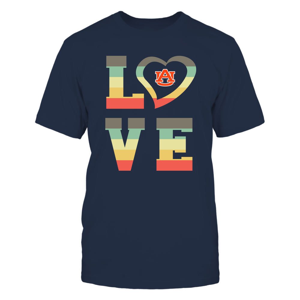 Auburn Tigers - Stacked Love - Heart Shape Front picture