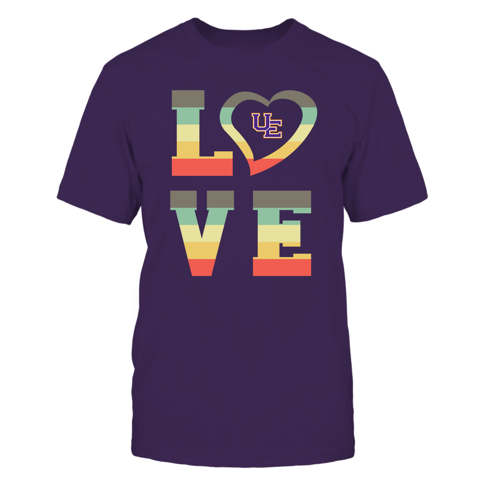 Evansville Purple Aces - Stacked Love - Heart Shape Front picture