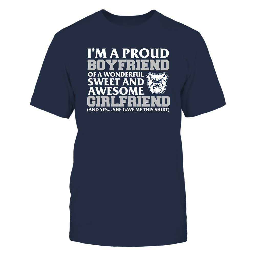 Butler Bulldogs - Boyfriend - Girlfriend Gave Me This Shirt Front picture