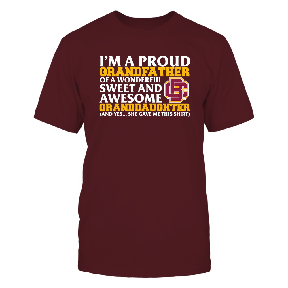 Bethune-Cookman Wildcats - Grandfather - Granddaughter Gave Me This Shirt Front picture