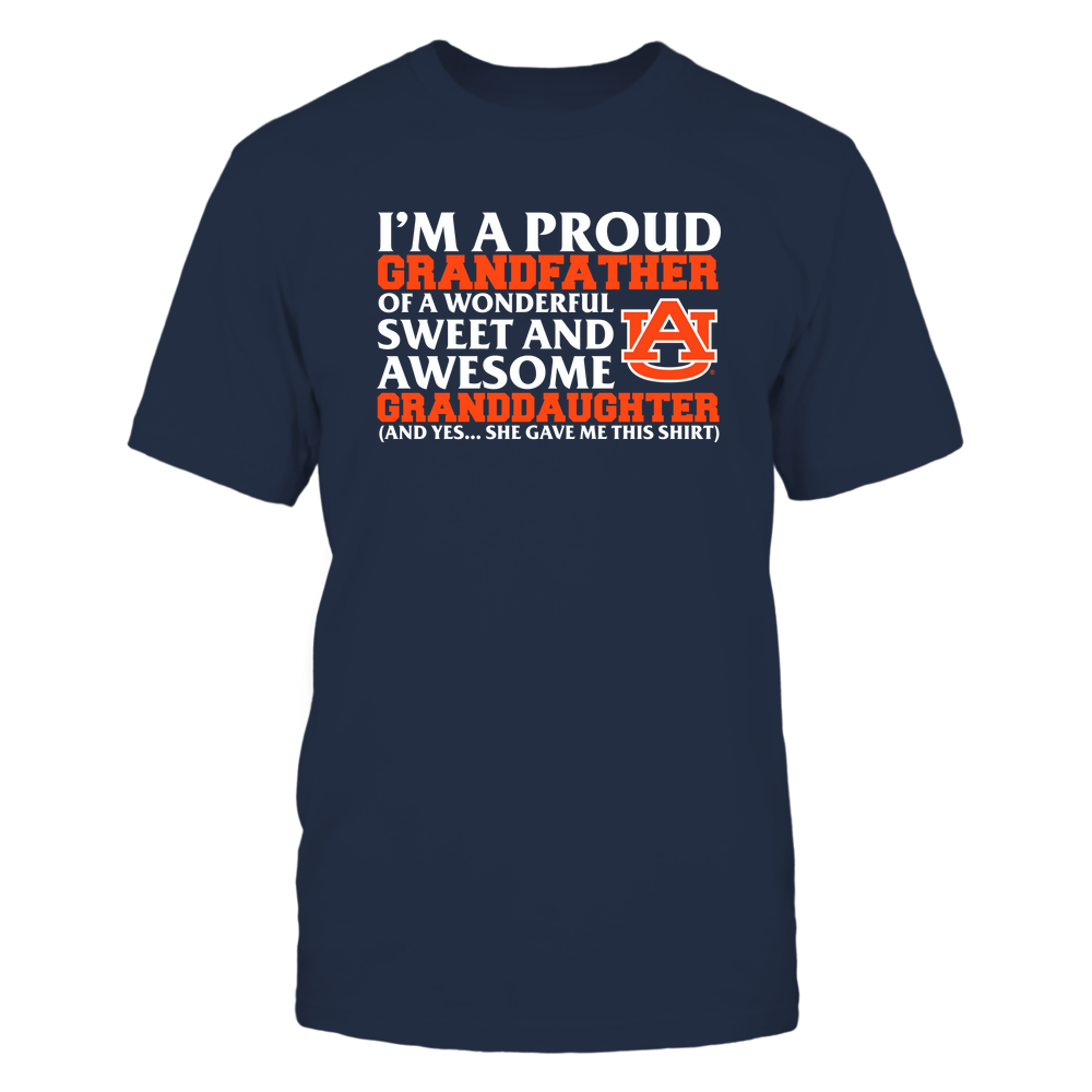 Auburn Tigers - Grandfather - Granddaughter Gave Me This Shirt Front picture