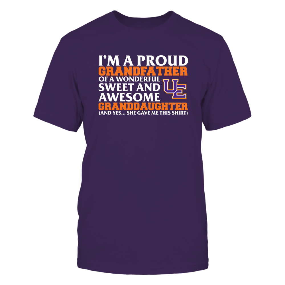 Evansville Purple Aces - Grandfather - Granddaughter Gave Me This Shirt Front picture