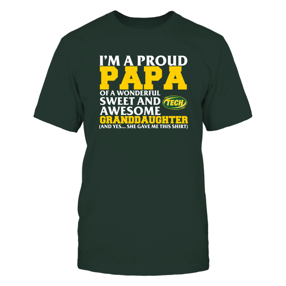 Arkansas Tech Golden Suns - Papa - Granddaughter Gave Me This Shirt Front picture