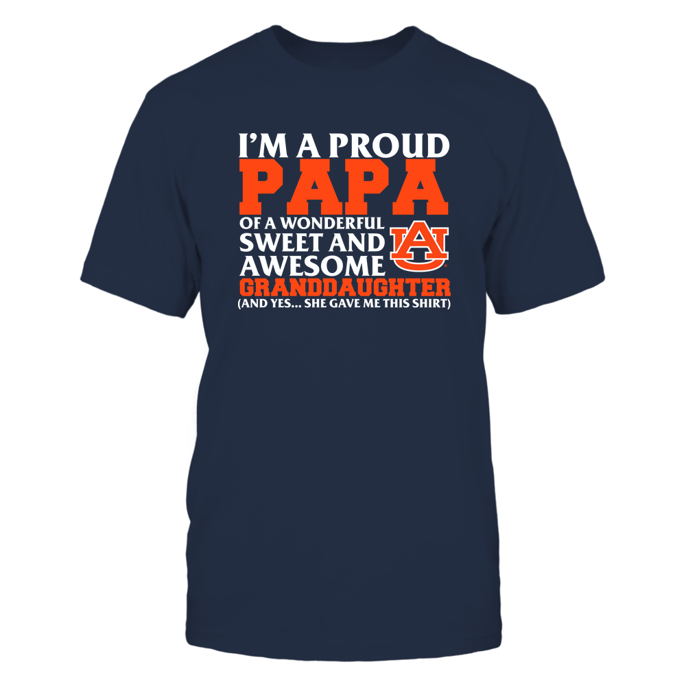 Auburn Tigers - Papa - Granddaughter Gave Me This Shirt Front picture