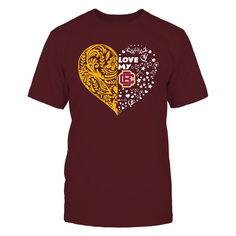 Bethune-Cookman Wildcats - Love My Team - Half Floral Pattern Front picture