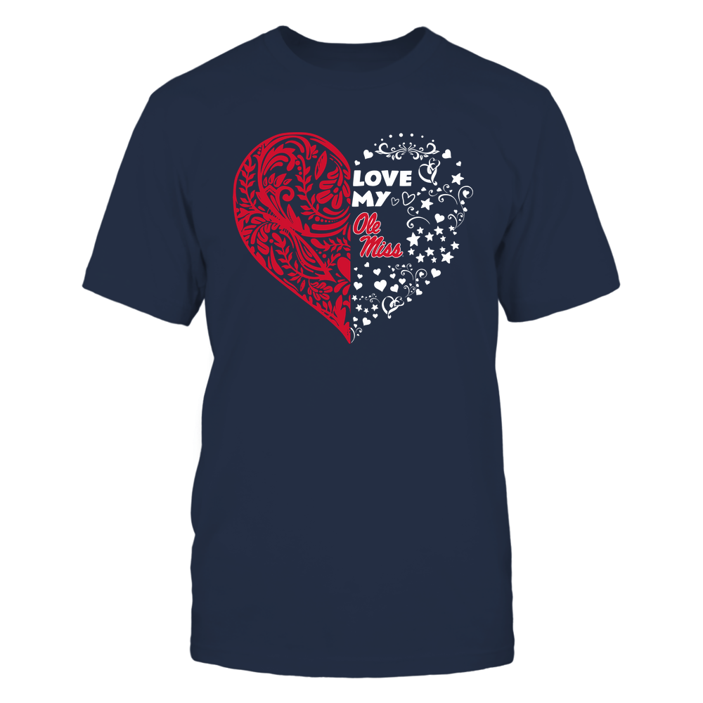 Ole Miss Rebels - Love My Team - Half Floral Pattern Front picture